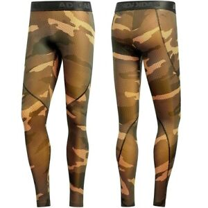 Adidas Camoflauge Ask Men's Sports Leggings Running Training Trousers Army Camo