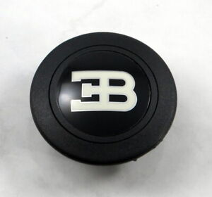 Personal Steering Wheel Horn Button - Black with Bugatti Logo MADE IN ITALY