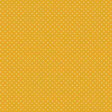Baumwollstoff Pünktchen Gelb METERWARE Webware Popeline Stoff Dots