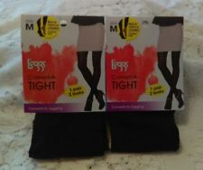 L'eggs Convert-A-Tights 2 PAIRS Size M (B) Black Tights convert NIB