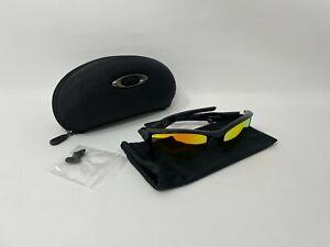 Oakley Flak Jacket XLJ 03-899 Polished Black Frame w/ Fire Iridium Lens