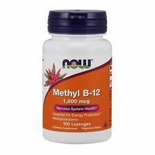 Now Foods Methyl B-12 1000 mcg 100 Lozenges Free Shipment