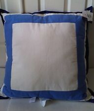 """$70 Happy Chic by Jonathan Adler Zoe 26"""" Square Euro Pillow Blue with Flange NWT"""
