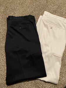 Under Armour Performance Golf Pants 36/30 Black/Tan Excellent Condition