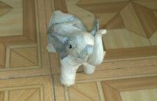 2 Faux bone elephants