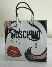 $1095 AW18 MOSCHINO COUTURE JEREMY SCOTT EYES LEATHER SHOPPER BAG #MOSCHINOEYES