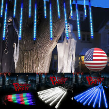 Solar LED Meteor Shower Lights String 8 Tube Tree Lights Halloween Garden Decor