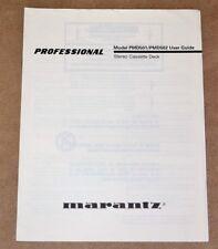 Marantz PMD 501/PMD 502 tape deck ORIGINAL  user manual in ENGLISH Language!