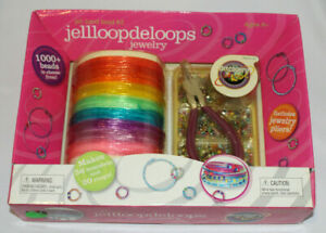 Discovery Kids Jellloopdeloops Jewelry Jell Band Bead Kit 1000+ beads & pliers