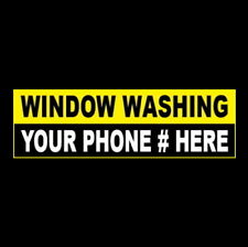 Customized Window Washing Business Sticker Sign Squeegee Poles Washer Worker