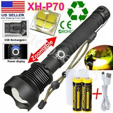 350000 Lumen Zoom Focus XHP70 LED USB Rechargeable Torch Flashlight Super Bright