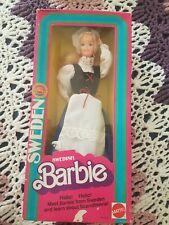 Barbie Swedish - Sweden Mattel Vintage 82' dolls of the world superstar pink box