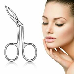 Slant Tip Scissors Shaped Tweezers Face Hair Remover Professional For Eyebrow