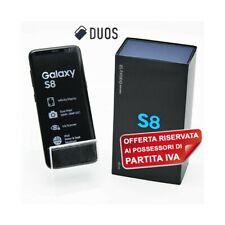"SMARTPHONE SAMSUNG GALAXY S8 DUOS 64GB BLACK 5,8"" DUAL SIM G950FD PER P.IVA."