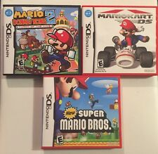 Mario Kart DS,Mario & Donkey Long 2+New Mario U (Nintendo DS)Lot Complete