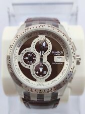 SWATCH IRONY DIAPHANE AUTOMATIC CHRONO RIGHT TRACK BROWN - SVGK408 - 2011 - NEW