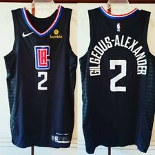 Shai Gilgeous-Alexander LA Clippers 1st Ever Worn NBA Playoffs Jersey of Thunder