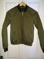 Ladies - River Island Khaki Green Bomber Jacket Size 6