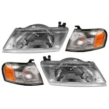 HEAD & CORNER LIGHT LEFT & RIGHT SET FOR 1995 - 1998 NISSAN SENTRA / 95-97 2OOSX