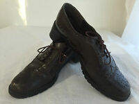 Stuart Weitzman Lace-Up Wingtips Brogues Brown Leather No Size Fits Like 7/7.5