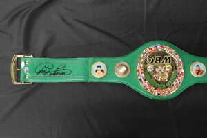 GEORGE FOREMAN SIGNED WBC REPLICA WORLD CHAMPIONSHIP BELT JSA COA JB1408