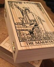 HANDCRAFTED WOODEN TAROT CARD BOX AND BAG FOR STORING YOUR TAROT CARDS