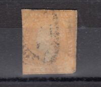 Victoria State QV 1854 6d Dull Orange Woodblock SG32a Used J6120