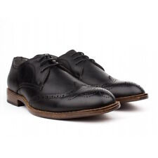 Bonafini C-163 Mens Black Lace Up Dress Shoes