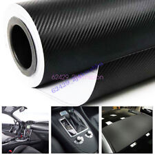 "20""x 50"" Black 3D Carbon Fiber Vinyl Car DIY Wrap Sheet Roll Film Sticker Decal"