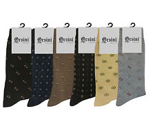 6 PAIR LOT CLASSY MENS DRESS SOCKS FIRST QUALITY SIZE 9-11 COTTON FORMAL SOCKS