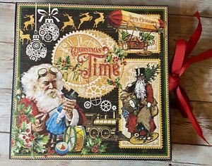 Premade Handmade Christmas Time Xmas Scrapbook Album