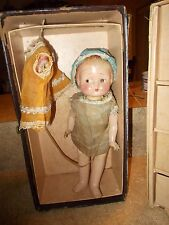 """Vintage 30s or 40s 11"""" Arranbee Nancy composition doll Trunk extra outfits Patsy"""