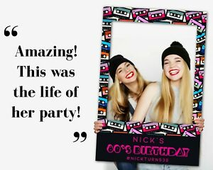 80s Party Decorations Photo Booth Frame + Welcome Sign | 80s Birthday Props