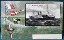 Norddeutscher Lloyd ocean liner Friedrich der Grosse antique German postcard