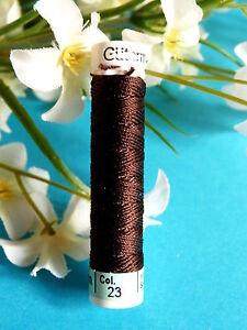 92B / Beautiful Coil Pure Wire Silk Drawstring Gutermann Brown N° 23