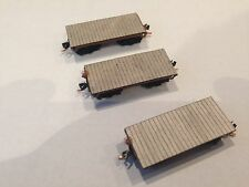 ULRICH N SCALE OLD TIME FLAT CARS 3 CAR SET
