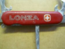 Wenger Highlander  Swiss Army knife in red - LONZA -  has pick and tweezers