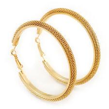 Orecchini CERCHI maglie larghe in oro placcatura - 65mm di diametro