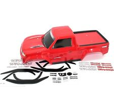 Traxxas TRX-4 Sport Pickup Truck Painted Body Red Decal Sheet