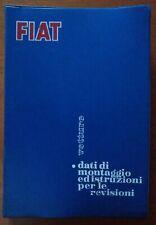 🇮🇹 FIAT 600,1100,1200,1300,1500,1800,1800B,2300 manuali montaggio revisioni