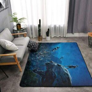 Black Panther Rugs Non-Slip Area Rug Living Room Bedroom Floor Mat Soft Carpet