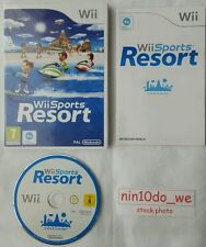 Wii SPORTS RESORT=12 Games=Jet Ski+Bowling+Cycling+Archery+Wakeboarding=NR MINT✔