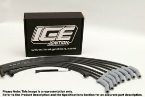 ICE Ignition PRO 100 9 mm Leads - HEMI 6, 215, 245 & 265, FEMALE Dist. & Coil