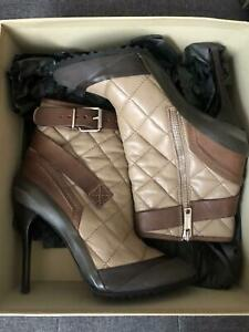 burberry womens quilted leather ankle boots