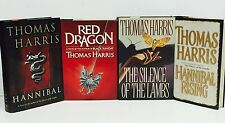 Thomas Harris-4 Books-SIGNED!-TRUE First/1st Editions!-FULL SERIES!-Dragon-Lambs