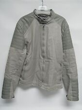 Armani Exchange A|X L Large Grey Part Leather And Fabric Jacket