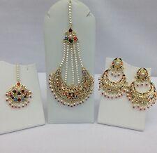 Bollywood Indian/Pakistani  Wedding, Party Wear Jhummar, Earrings,Tikka Set