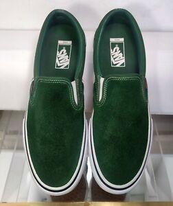 VANS Pro 500714 Green Suede Low Skate Shoes Sneaker Slip On Men US 11