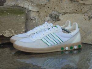 2009 Adidas Handball 5 Plug UK10 / US10.5 Rare White Green OG Vintage Originals