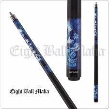 Eight Ball Mafia- Blue Stacked Skulls - 2 PC House Bar Billiard Cue Sticks EBM19